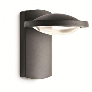 Hochwertige LED-Außen-Wandleuchte mit Streulinse - Aluminium - Anthrazit