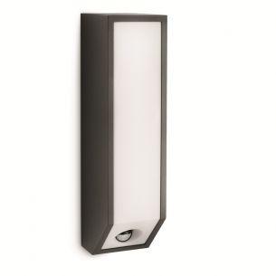 Kastige Außen-Wandleuchte - Mit Bewegungssensor- Aluminium - Kunststoff - anthrazit anthrazit