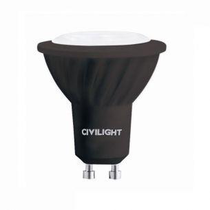 GU10 LED 6 Watt, QPAR 51, dimmbar - in Schwarz