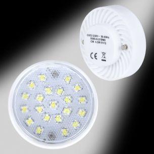 LED Leuchtmittel GX 53, 21 LEDs, 4,2 Watt, neutralweiß, 295 Lumen, 230V