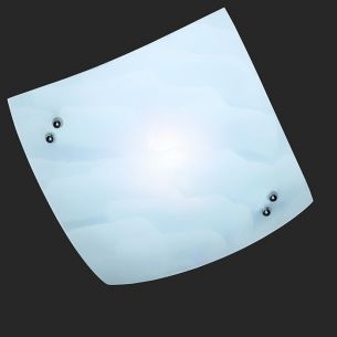 Deckenleuchte aus Glas in Wolkenoptik weiß