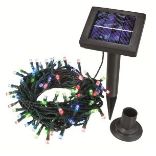 Solar Lichterkette mit bunten LEDs LED bunt