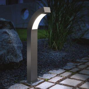 LED-Wegeleuchte in anthrazit, Lichtfarbe kaltweiß, Höhe 100cm 100,00 cm