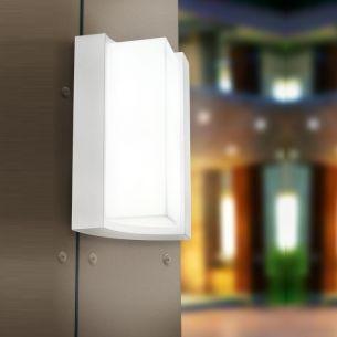moderne LED Wandleuchte in weiß, IP54 weiß
