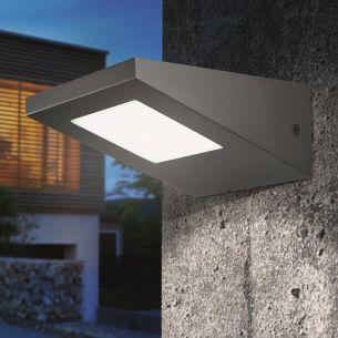 Moderne LED Design Wandleuchte in anthrazit, Lichtfarbe 6000K (kaltweiß), IP54