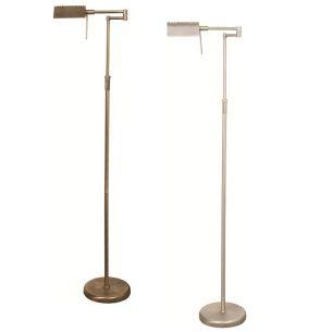Moderne Stehleuchte - Mit Drehdimmer  - 2 Oberflächen - Bronze oder Stahl gebürstet