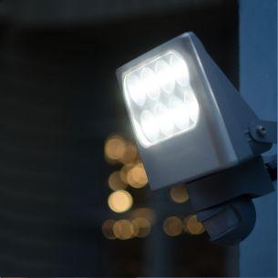 LED-Strahler mit Bewegungsmelder, IP54, 8x3Watt, 4100K, Lichtfarbe neutralweiß, schwenkbar