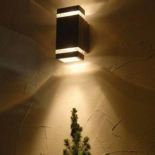 LED-Außenwandleuchte mit up-and downlight, IP44, 6 x 1.2 Watt, Aluminium
