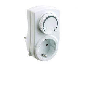 Steckdosen-Dimmer in weiß