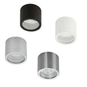 Deckenspot mit Power-LED 4,5W in verschiedenen Ausführungen wählbar, IP44, LED schwenkbar, 6300°K