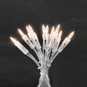 LED-Minilichterkette Innen 35 klare Birnen,  Gesamtlänge 8,10 Meter