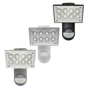 LED-Strahler mit Sensor für Wandmontage in 3 Farben und 2 Lichtfarben wählbar, IP55