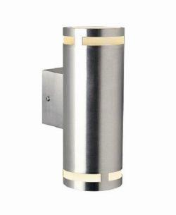 Aussenwandleuchte/ 2 Spots mit Ober-und Unterlicht aus Aluminium