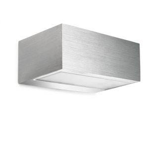 Wandleuchte in weiß oder aluminium-gebürstet aluminiumfarben, IP20, gebürstet