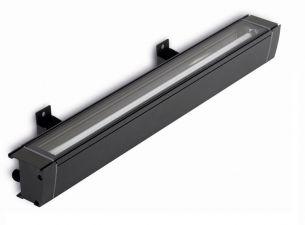 schlagfeste Wandleuchte IP65 aus Aluminium in Grau, inklusive Leuchtmittel, in 4 Längen wählbar