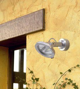 schlagfester Strahler IP54 aus Aluminium in Grau oder Anthrazit  für Wand oder Boden, inklusive Erdspieß, schlagfest