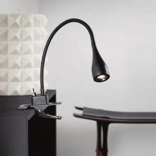 Trendige LED-Klemmleuchte mit Flexarm in   verschiedenen Farben, inklusive 3W LED