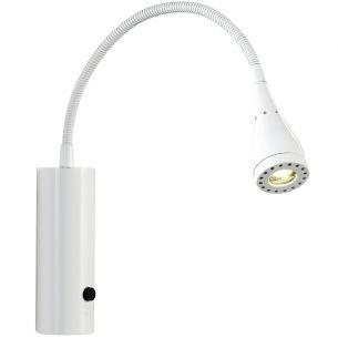 Trendige LED-Wandleuchte mit Flexarm in 5 verschiedenen Farben, inklusive 3W LED