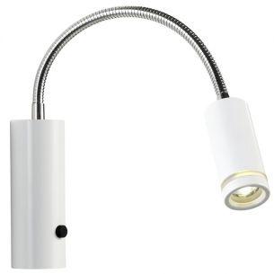 Schicke LED-Wandleuchte mit Flexarm in weiß oder schwarz wählbar, inklusive 3W LED