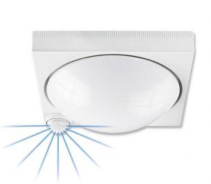 Schlagfeste Sensor-Deckenleuchte für den Außenbereich - weiß