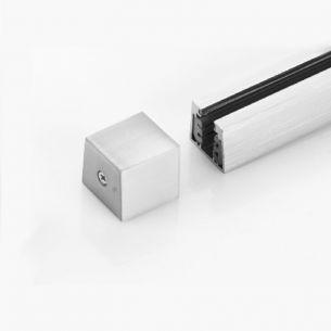 Stromschienen-Endkappe zum 2-Phasen Hochvolt-Schienensystem - in Nickel-matt