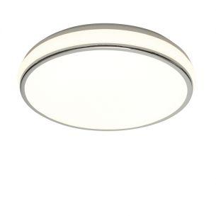 Energiesparende-Deckenleuchte in chrom mit mattem Acrylglas inklusive 40W T5 Ringröhre 1x 40 Watt, 42,80 cm