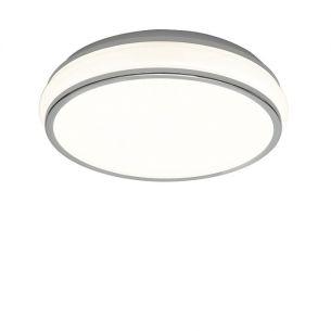 Energiesparende-Deckenleuchte in chrom mit mattem Acrylglas inklusive 22W T5 Ringröhre 1x 22 Watt, 34,50 cm