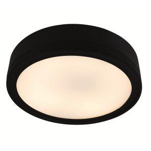 Lichtstarke Außenleuchte in schwarz in 30cm Durchmesser, inkl.1x GR10q, 28Watt