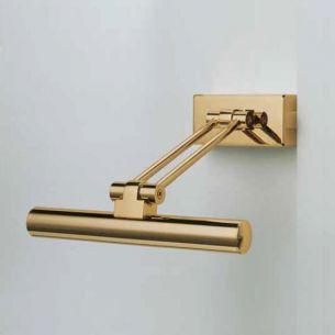 Bilderleuchte in Gold-glänzend, Gold-gebürstet oder Nickel-satiniert , inklusive ECO-Leuchtmittel