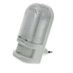 LED-Nachtlicht mit Schalter in Weiß und Transparent 0,7W 2900°K warmweiß