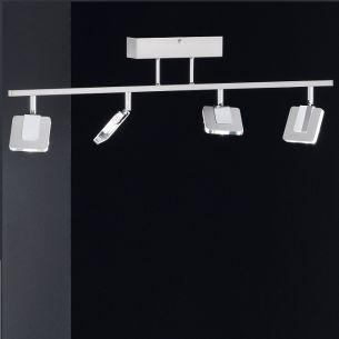 LED-Deckenleuchte, schwenkbar, inklusive 4x Power LEDs 4 Watt, 2700K warmweiß, je 300 Lumen