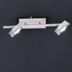 LED-Wandleuchte, schwenkbar, inklusive 2 Power LED 4 Watt, 2700K warmweiß, je 300 Lumen