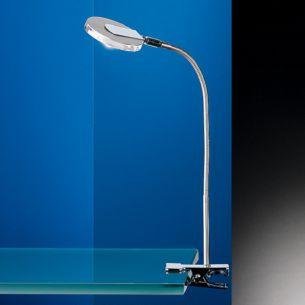LED-Klemmleuchte, schwenkbar, inklusive 1 Power LED 4 Watt, 2700K warmweiß, 300 Lumen