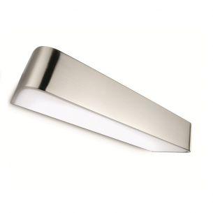 Wandleuchte speziell für Ihr Badezimmer - Stahl gebürstet - Kunststoff