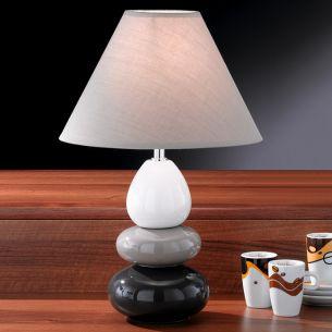Tischleuchte Keramik grau-weiß grau/weiß
