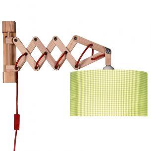praktische kinder wandleuchte mit ziehharmonika arm aus. Black Bedroom Furniture Sets. Home Design Ideas