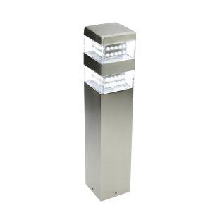 LED-Außenpollerleuchte aus Edelstahl und Kunststoff IP54 12,8W 640 Lumen 3000°K
