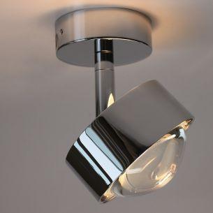 LED Wand- oder Deckenleuchte PUK TURN in Chrom-matt - Linse, Glas und Farbfilter separat bestellbar Chrom/matt