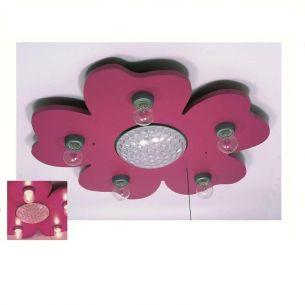 Kinder Deckenleuchte Happy - Flower  - mit LED - Farbwechsler - in Satinmagenta