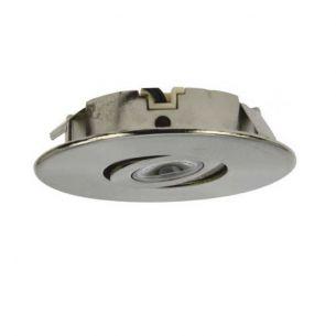 LED-Einbaustrahler in Edelstahl-gebürstet zum Einbau in Unterbauleuchten 3W 125 Lumen 2900°K