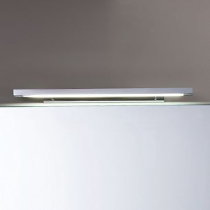 Moderne Spiegelleuchte in Chrom - Länge 92cm - inklusive Leuchtstoffröhre