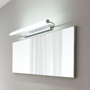 Schwenkbare Spiegelleuchte in Chrom in 3 Größen erhältlich - inklusive Leuchtmittel