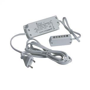 LED-Vorschaltgerät 15W 12V mit Steckerzuleitung und 12-fach Verteiler