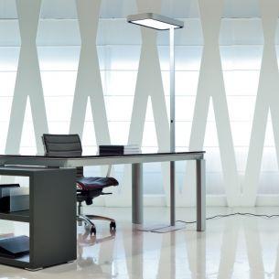 Energieeffiziente Bürostehleuchte mit LED - in Grau oder Weiß erhältlich - inklusive LED 55W Neutral Weiß