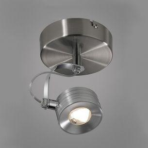 LED-Strahler in Eisen-gebürstet 5W LED 350 Lumen 3300°K warmweiß