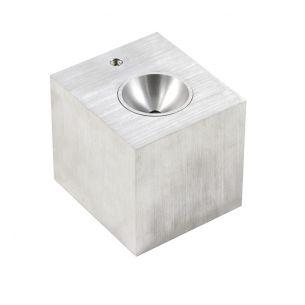 LED-Wandleuchte aus Aluminium-gebürstet indirekter Lichtschein mit 2x 3W CREE-LED 2700°K warmweiß
