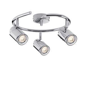 LED-Strahler in Chrom inklusive 3x 3.5W GU10 LED