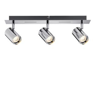 LED-Strahler Rondo Chrom inkl.  3x 3.5W GU10 LED