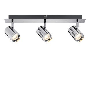LED-Strahler in Chrom inklusive 3x 3.5W GU10 LED