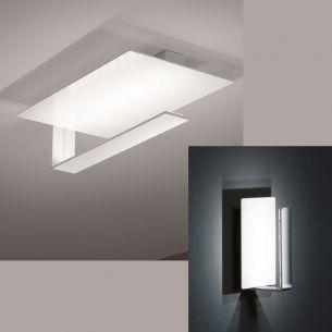 LED-Deckenleuchte in Mattweiß oder Mattweiß-Chrom - 12x1Watt = 1140 Lumen